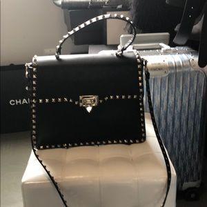 Authentic Valentino cross body black bag rockstud